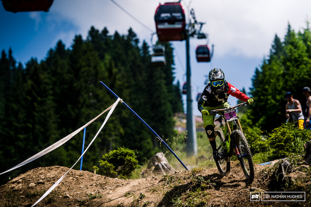 Emilie Siegenthaler doing it for team Switzerland and romping into a radical 5th spot.