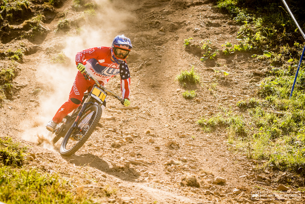 Aaron Gwin just didn't have the fireworks today. A mistake cost him 3.81 seconds and a potential fourth of July win.