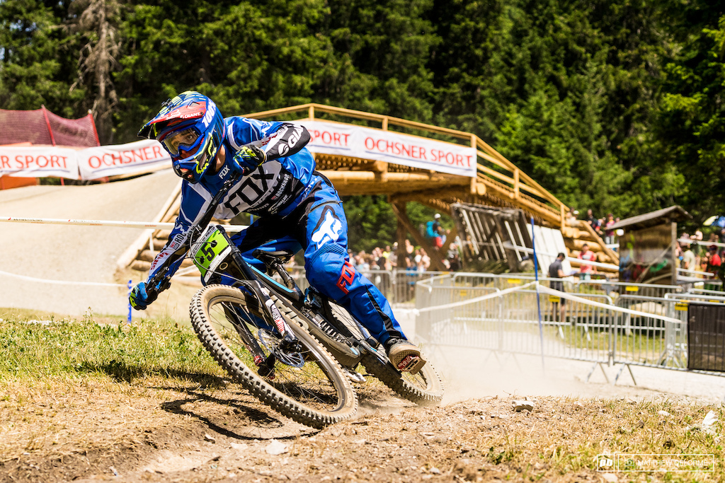 Alex Marin rode a smart race that put him into third place in Juniors today.