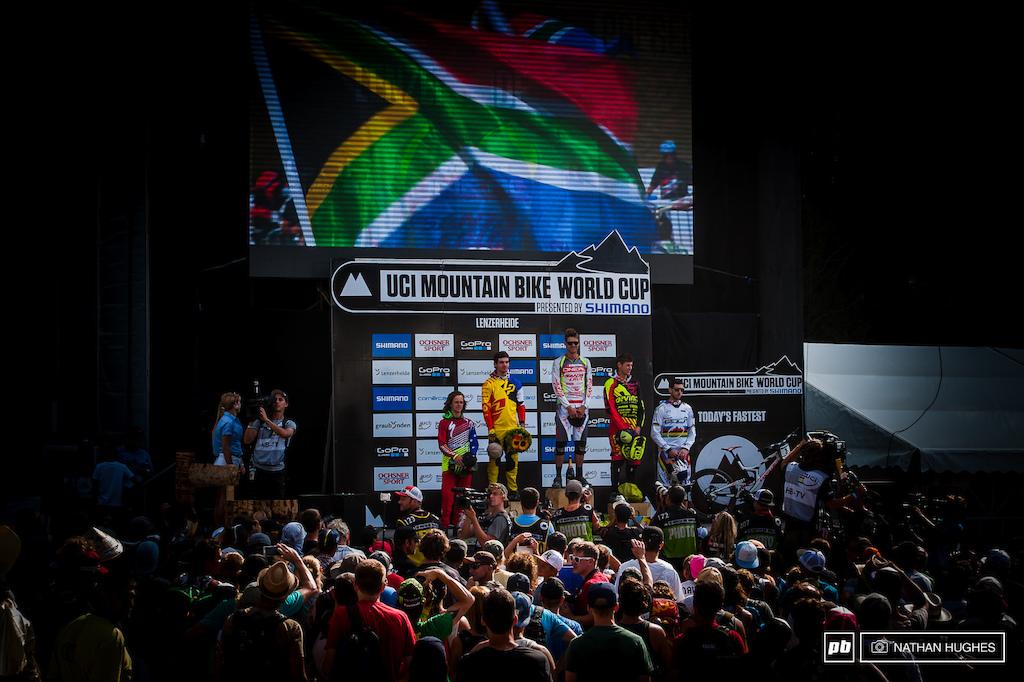 South Africa podium