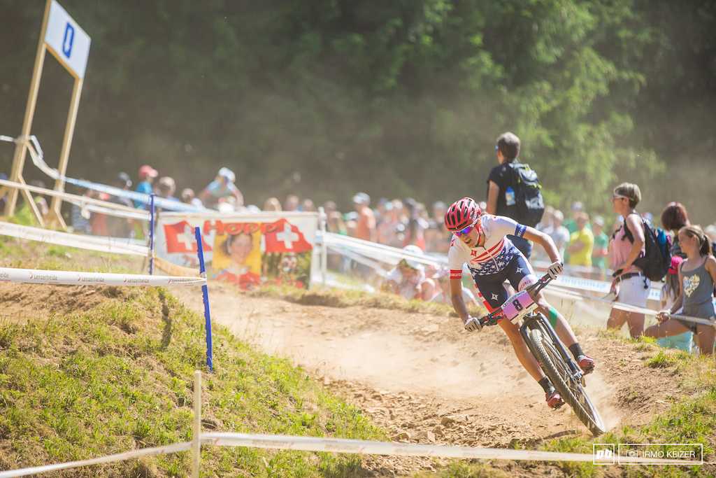 Lea Davison rode a very strong race riding into second place. She proved too strong for Neff.