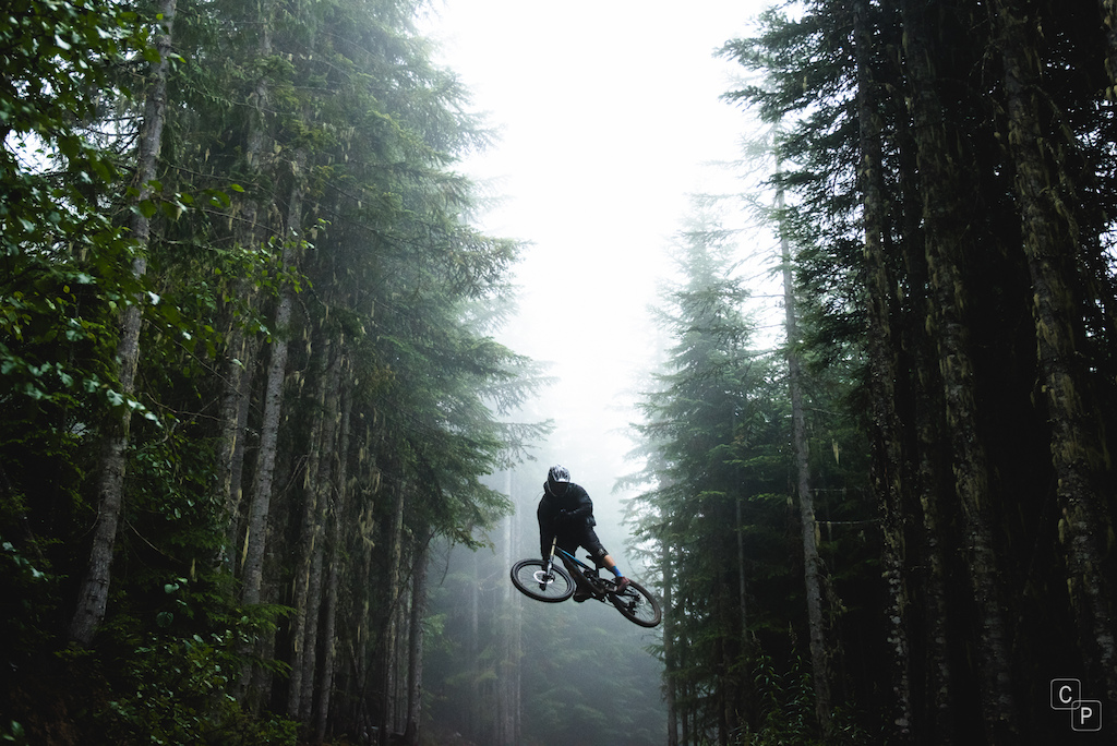 Foggy days have returned to the bike park after a week of smoky skies.