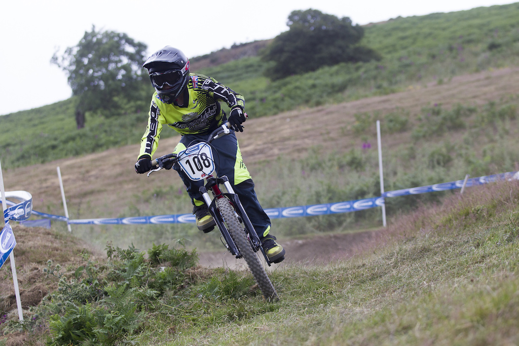 There was a large influx of BMX racers the interesting thing is most were saying how much of a mountain bike track it was during The Schwalbe British 4X National Championship at Moelfre Hall Moelfre United Kingdom. 11July 2015 Photo Charles Robertson