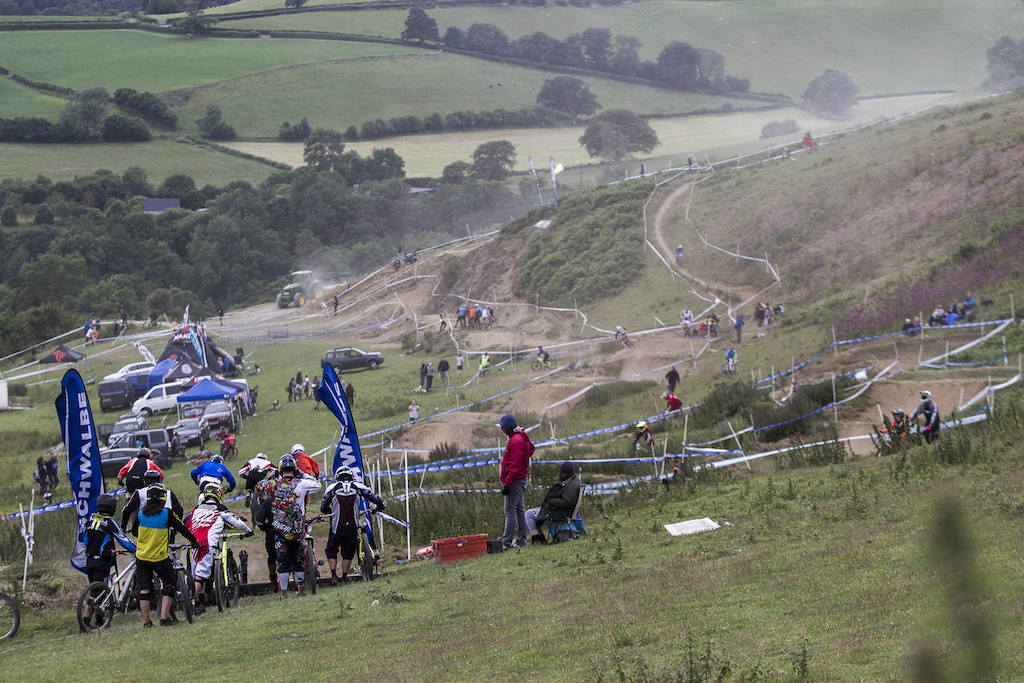 I had my doubts when I first seen the track I certainly wasn t the only one When push came to shove though it was one of the best tracks during The Schwalbe British 4X National Championship at Moelfre Hall Moelfre United Kingdom. 11July 2015 Photo Charles Robertson