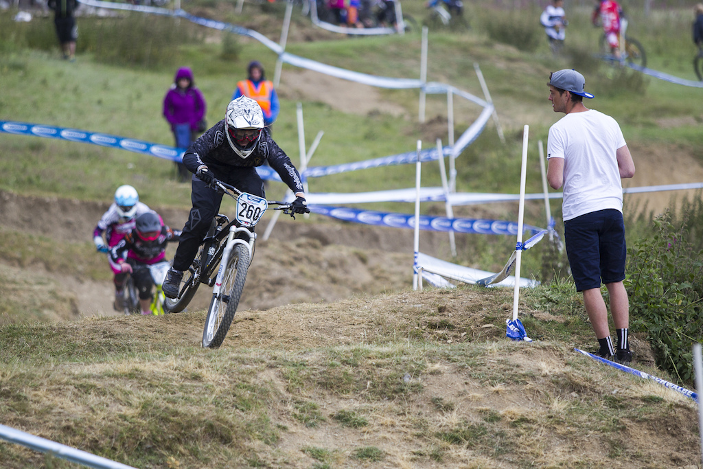It was good to see Jono Jones spectating I remember him and his brother battling it out back in the day during The Schwalbe British 4X National Championship at Moelfre Hall Moelfre United Kingdom. 11July 2015 Photo Charles Robertson