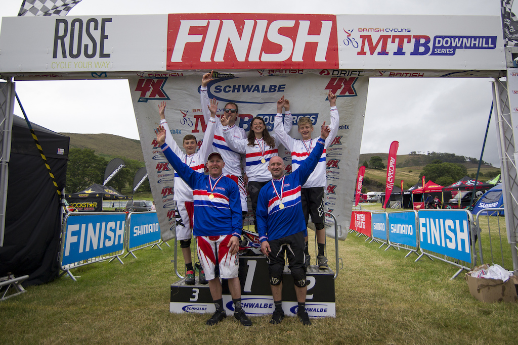 Your 2015 British 4X National Champions during The Schwalbe British 4X National Championship at Moelfre Hall, Moelfre, United Kingdom. 11July,2015 Photo: Charles Robertson