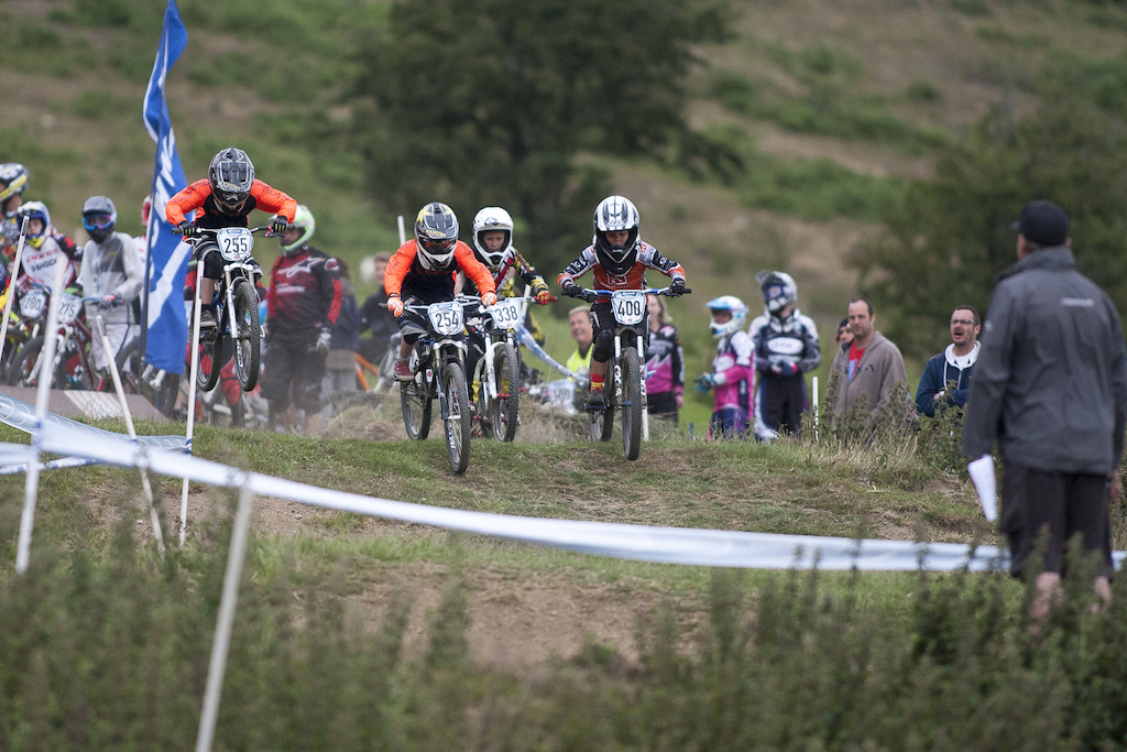 Tyler Partridge Leads out the rippers during The Schwalbe British 4X National Championship at Moelfre Hall, Moelfre, United Kingdom. 11July,2015 Photo: Charles Robertson