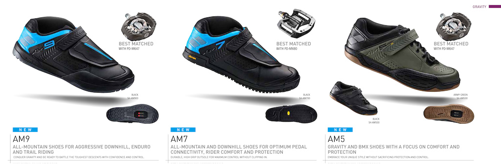 Shimano Gravity shoe collection 2016