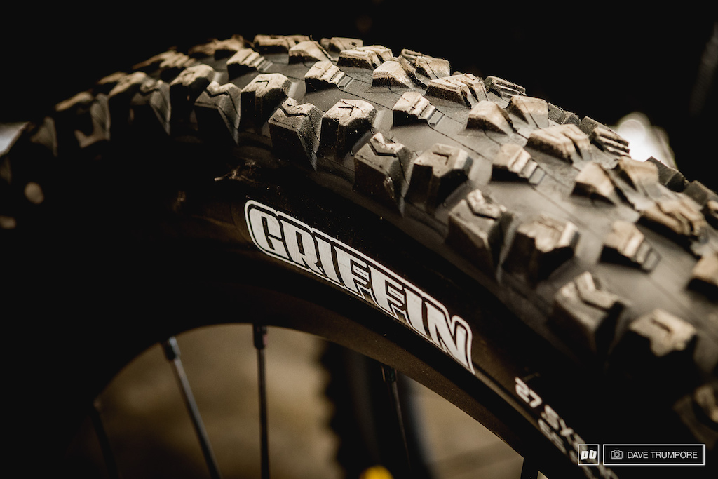 Riche Rude has been testing the Maxxis Griffin and apparently it is his new favorite rear tire for dry conditions. Jared is still on a Minion DHF