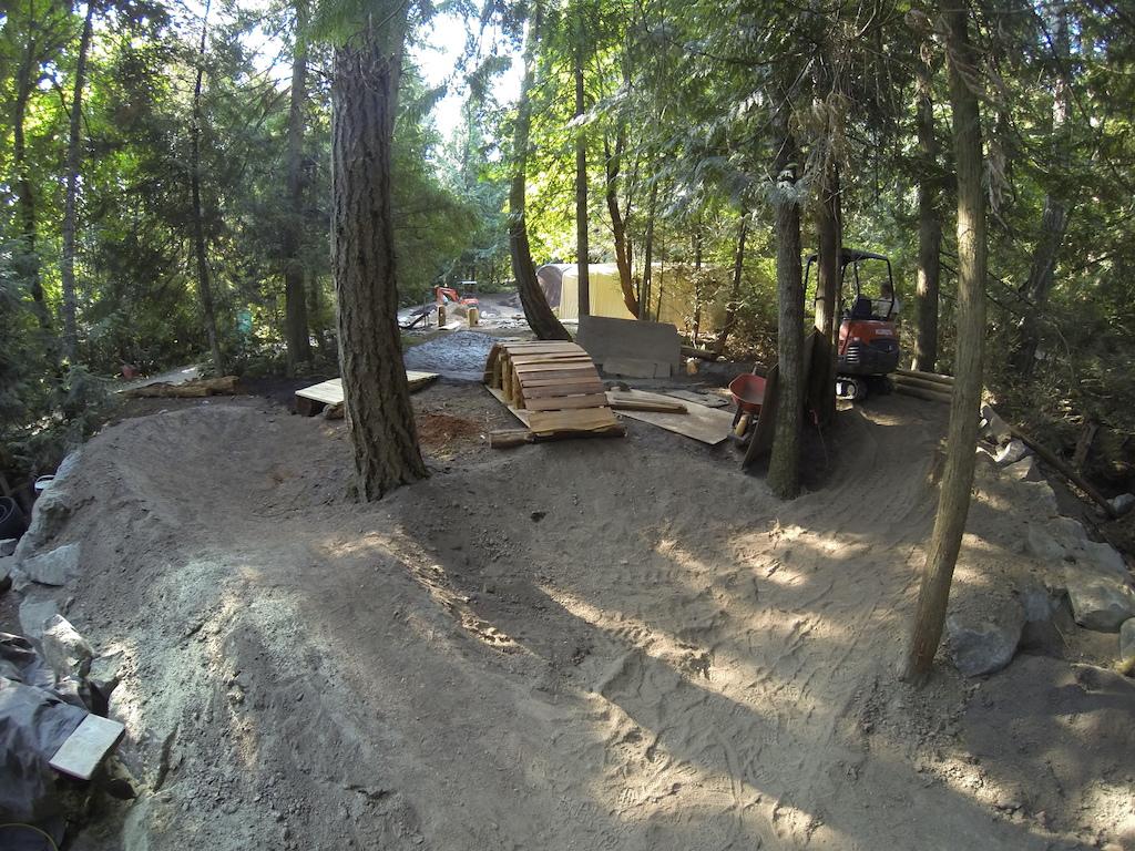 Playground beginning to take shape