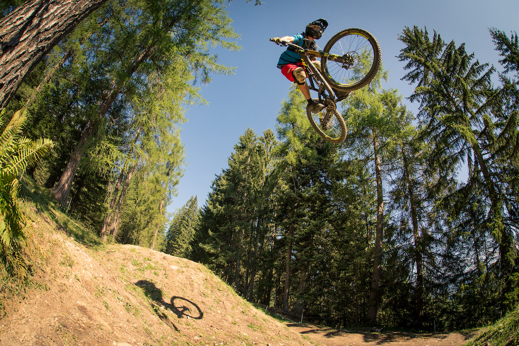 9m Gap in the Double Line of Tschack Norris Downhill / Bikepark Brandnertal