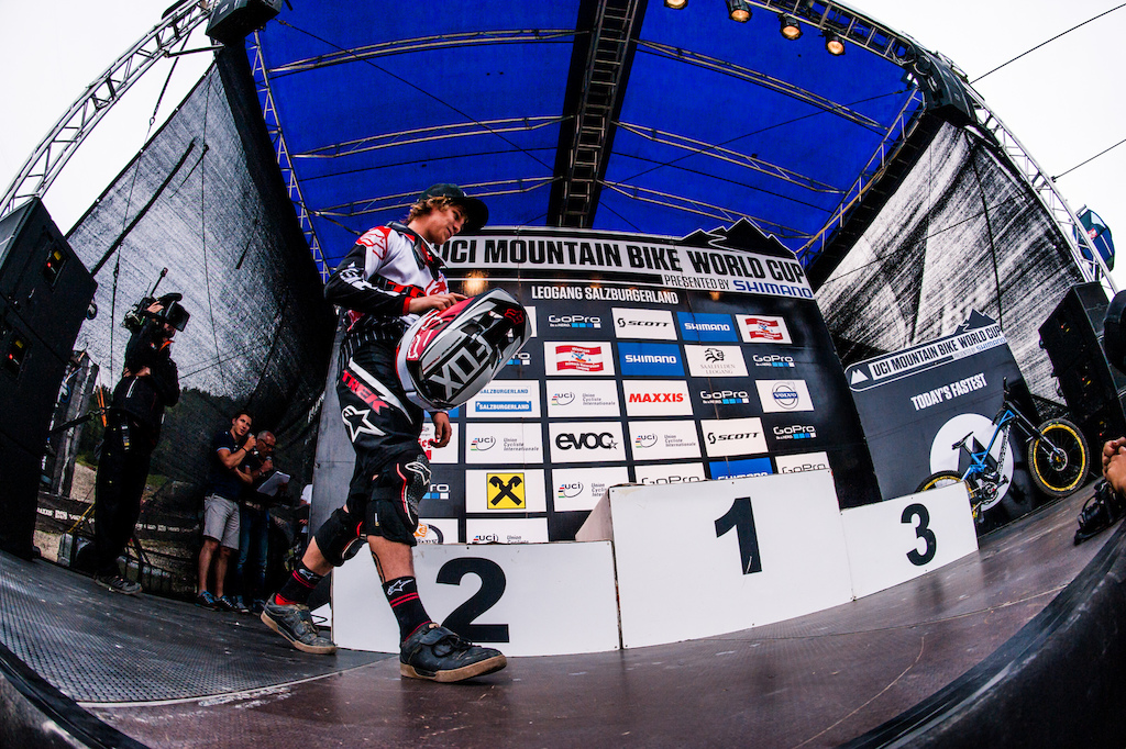 Perhaps outshined by Gwin s successes Greenland too made the podium without a chain at Leogang.