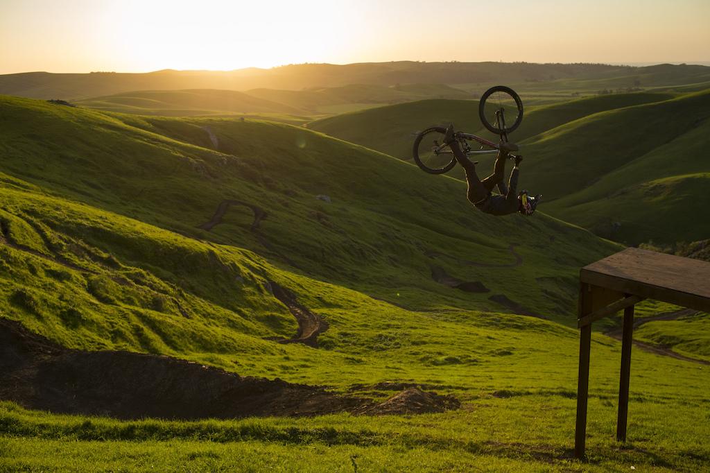 Brandon Semenuk in his 1 shot segment for unReal movie, in Cambria, California, USA, 2015 / Anthill Films