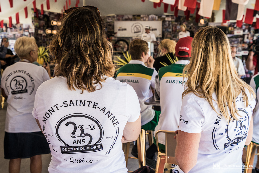 Here we are commemorating 25 years of World Cup racing at Mont Sainte Anne.