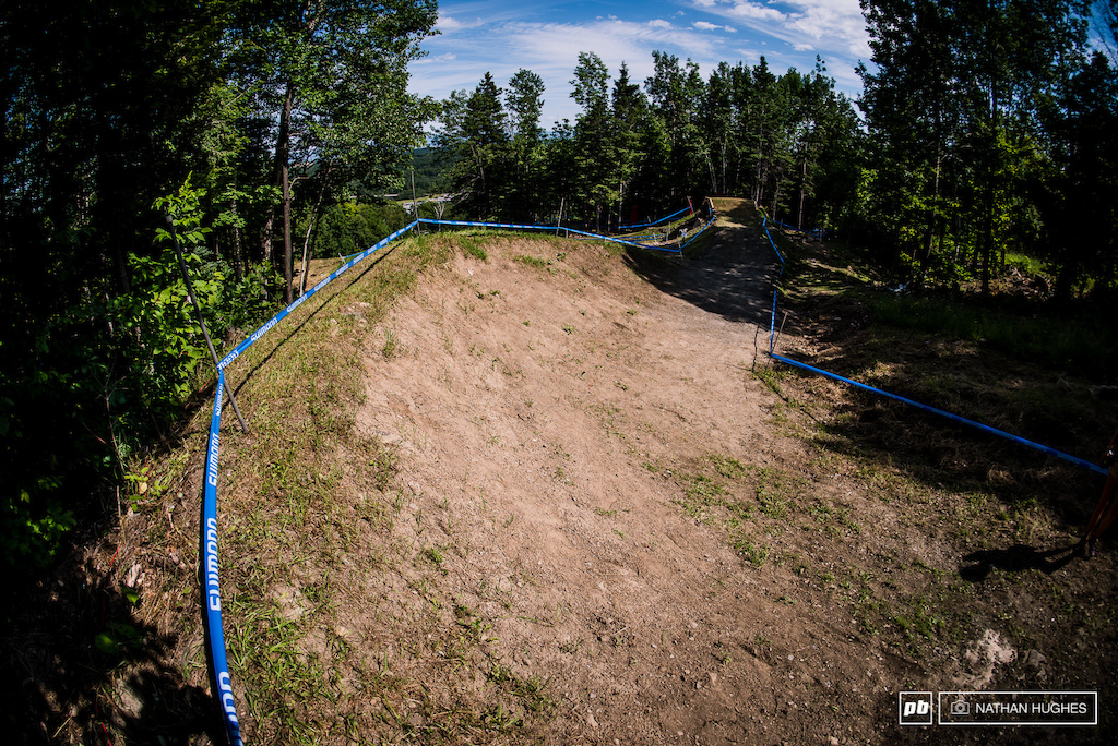 A diversion now leads riders onto the old 4x track for a big old fashioned berm.