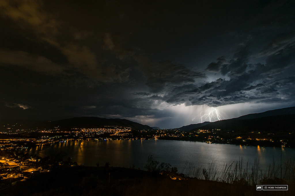A spectacular lightning show raged through the valley that night.
