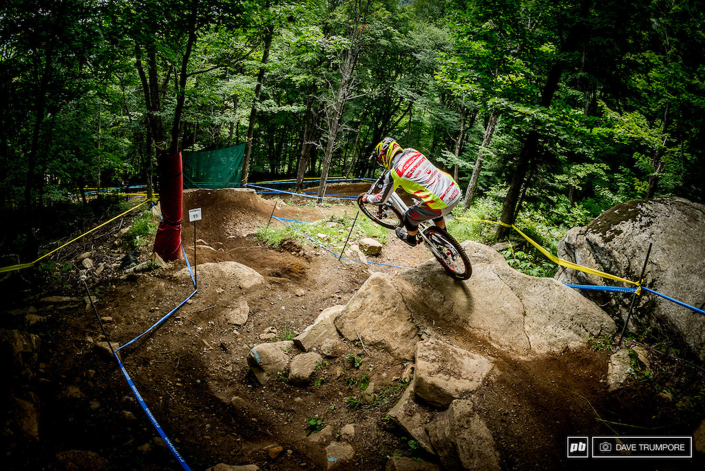 Never count Greg Minnaar out.  He is loving the track and looking as fast and smooth as ever.