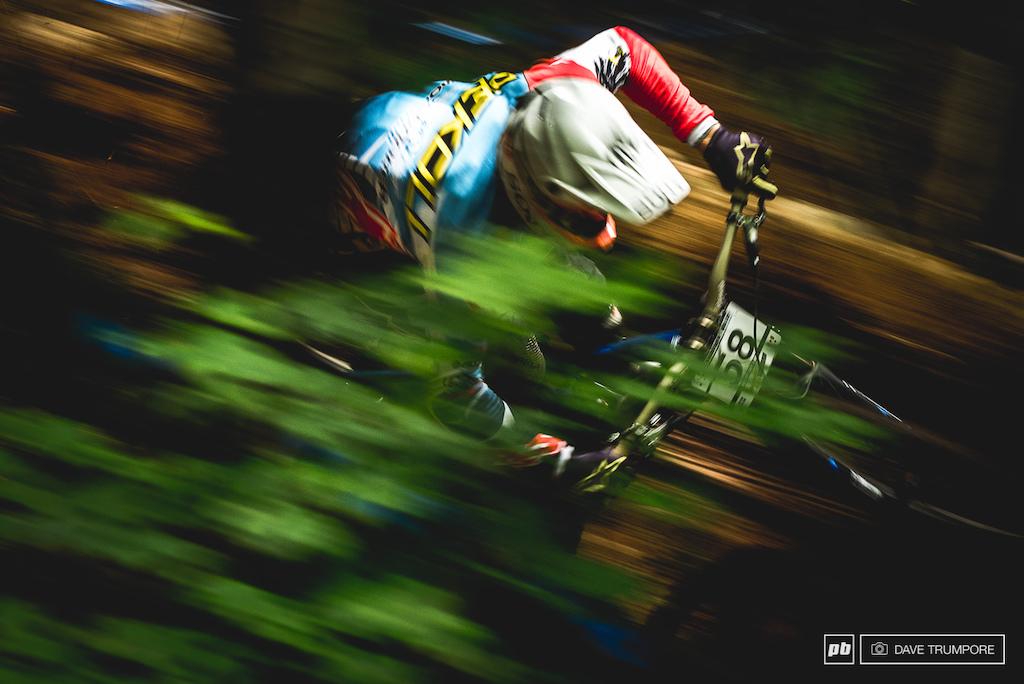 Markus Pekoll,  just a blur through the woods.