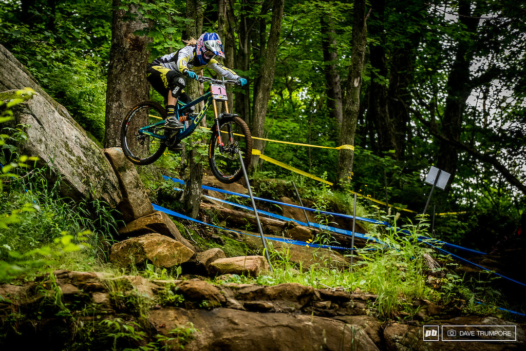 Rachel Atherton once again is the woman to beat and ended the day a comfortable 4 seconds up on her nearest rival.