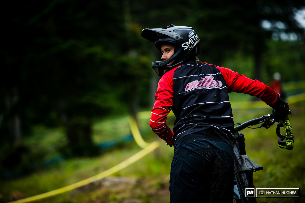 Miller time... It was a mighty fine day for the new Canadian Champ, Miranda Miller, qualifying in seventh spot.