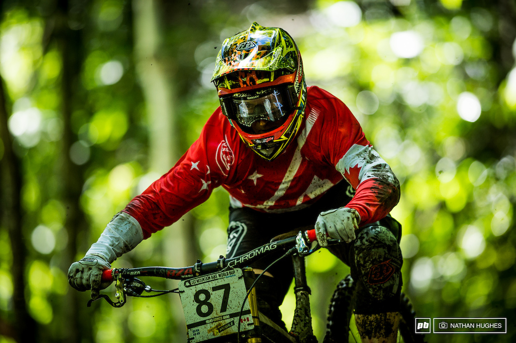 Canadian national champ Matt Beer made the cut by a whisker after a crash in split 2.