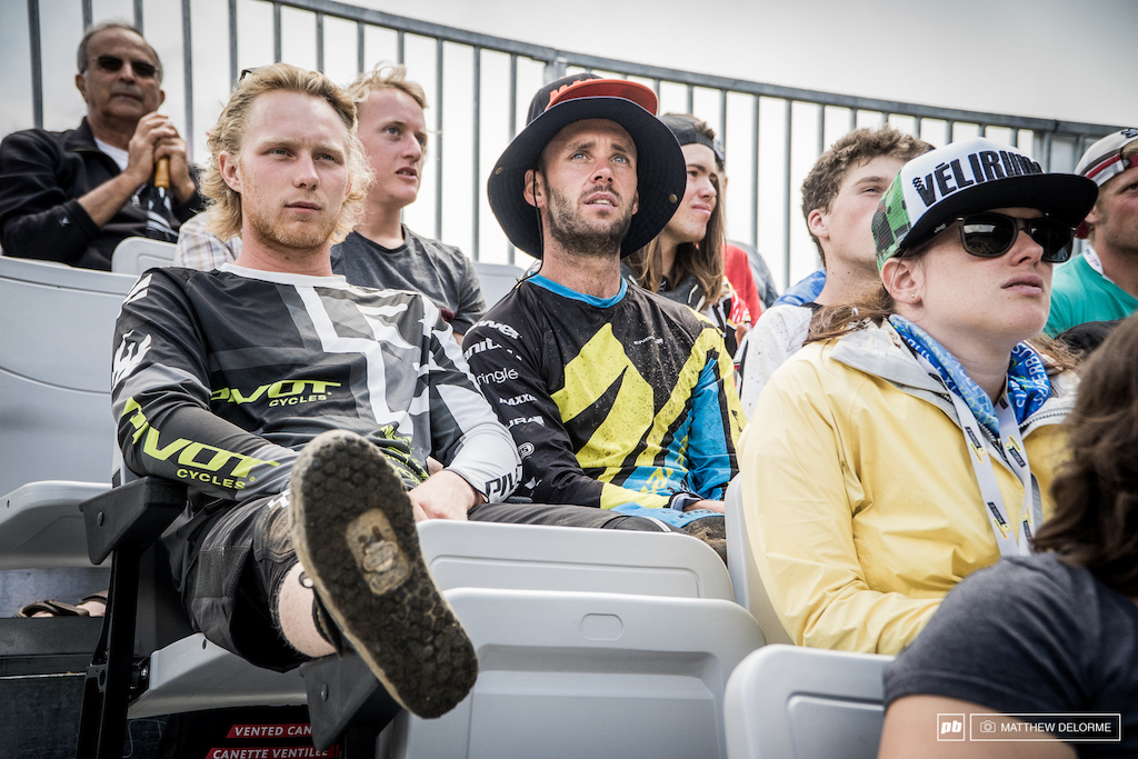 Eddie Masters and Bernard Kerr took some time to watch the Women from the grand stands.