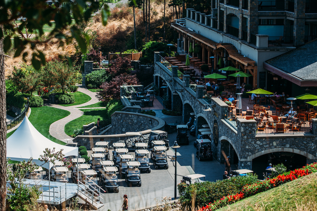 World Class accommodation here at the Bear Mountain Resort for the 2015 BearTrax Event formerly Jumpship . Grab a drink and bite to eat on the fabulous outdoor patio and enjoy the surrounding view.