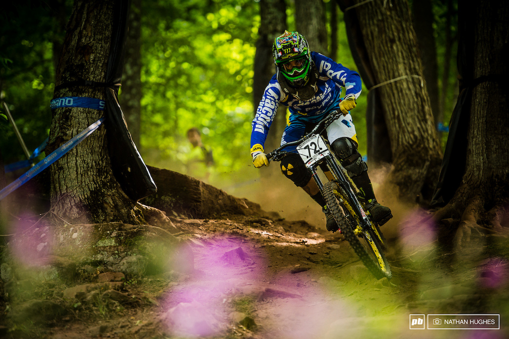 Sam Hill looking pretty in the flowers.