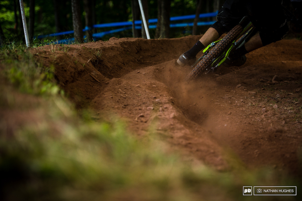 The Windham dust gets about another inch deeper every lap. Expect some mighty explosions with any small deviations from the line for finals...