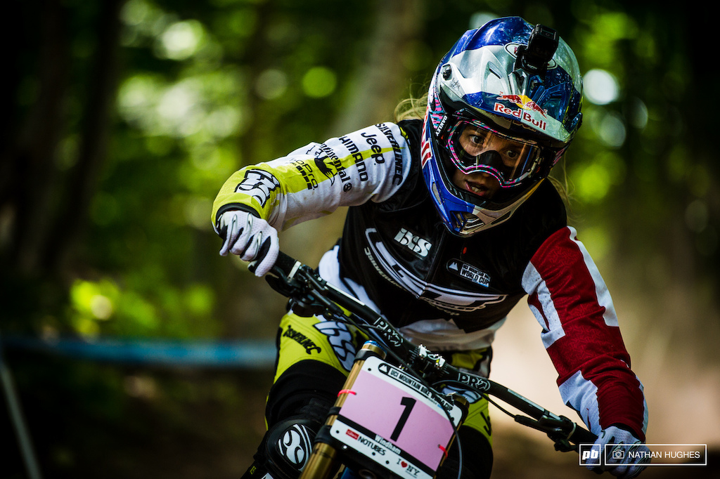 A thousand dust-coated obstacles in Atherton s way couldn t stop her roaring to another quali win this afternoon. 50 more points in the bank and the series overall is all hers without even needing to touch the bike on race day. Congratulations to Rachel your 2015 WC overall title winner on one hell of a season