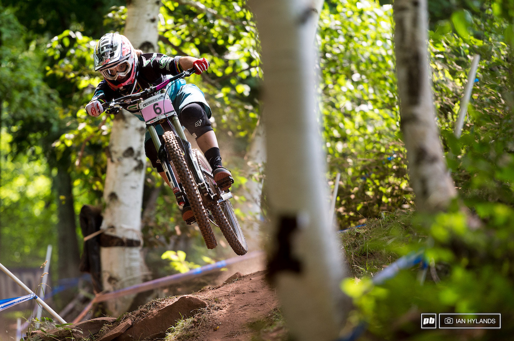 Morgane Charre qualified 6th today, more than 15 seconds back of first place Rachel Atherton.