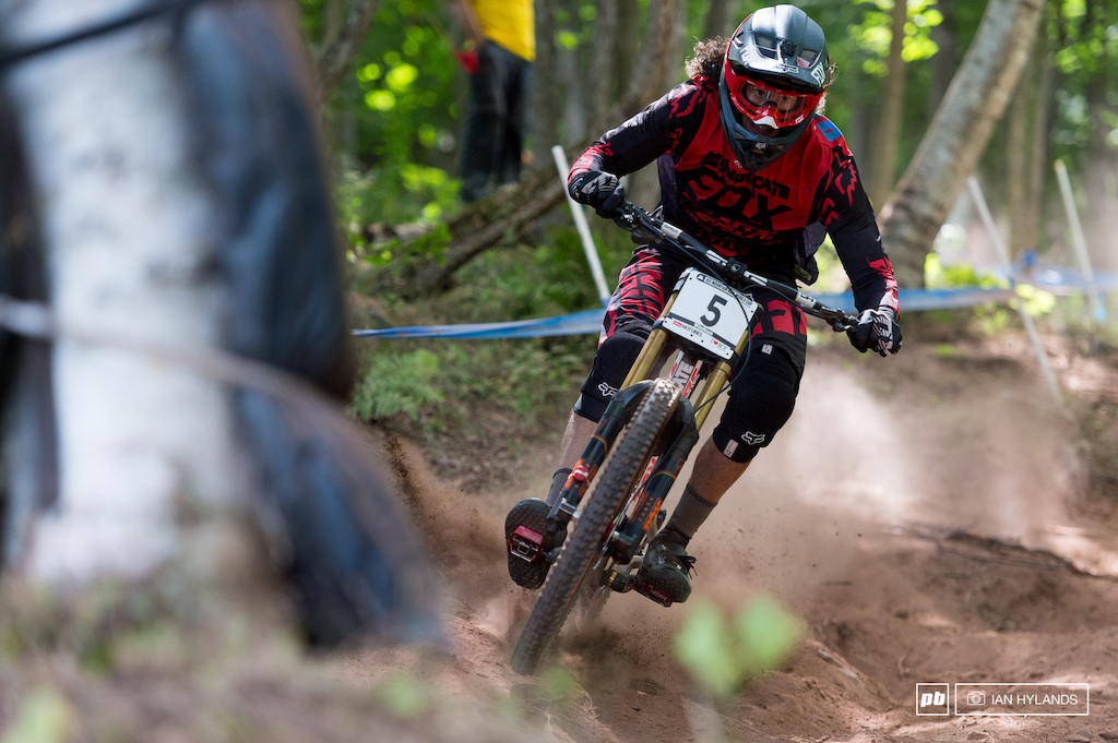 Ratboy won last weekend at Mont Saint Anne, and he's looking strong here. Not fast enough to take Gwin today, but good enough for 6th spot at the end of the day. What will tomorrow bring?