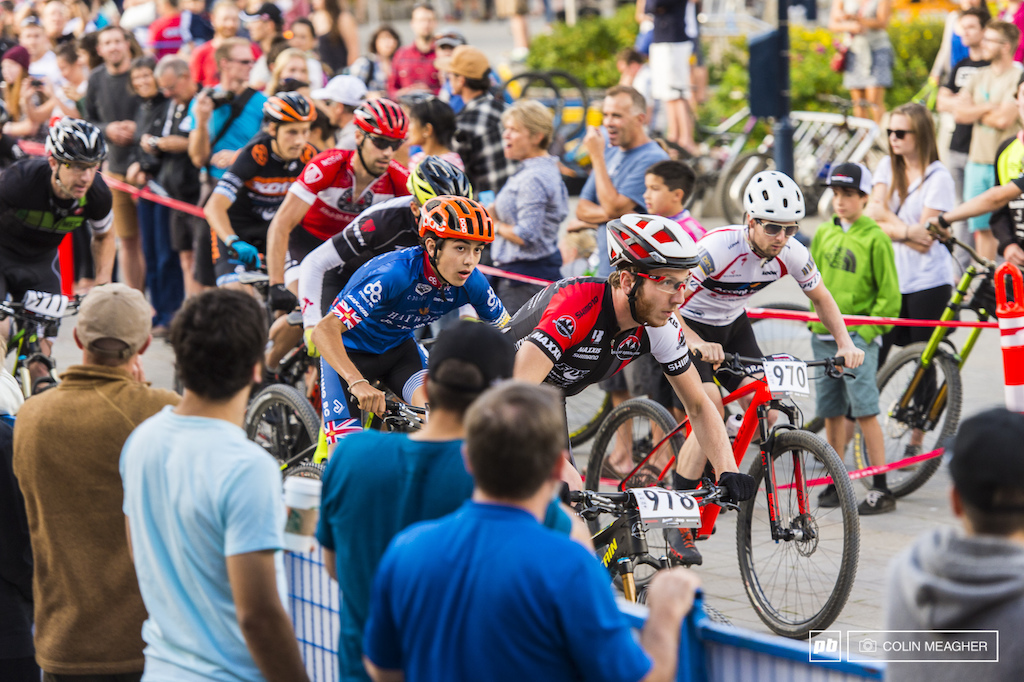 Fat Tire Crit racing in full effect: wall to wall racing from the bunch.