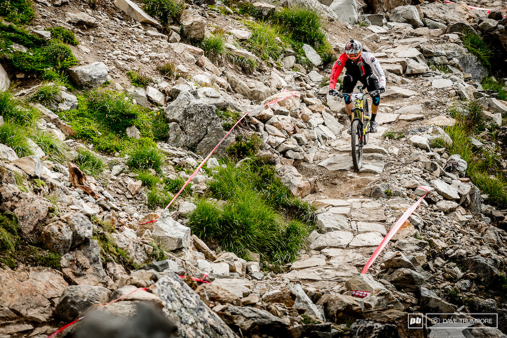 Even on the roughest of trails Florian Nicolai looks as if he is floating.