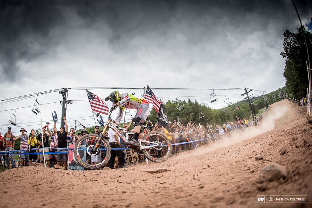 Greg Minnaar was on point today, but it wasn't enough to stop the mighty American on home soil.
