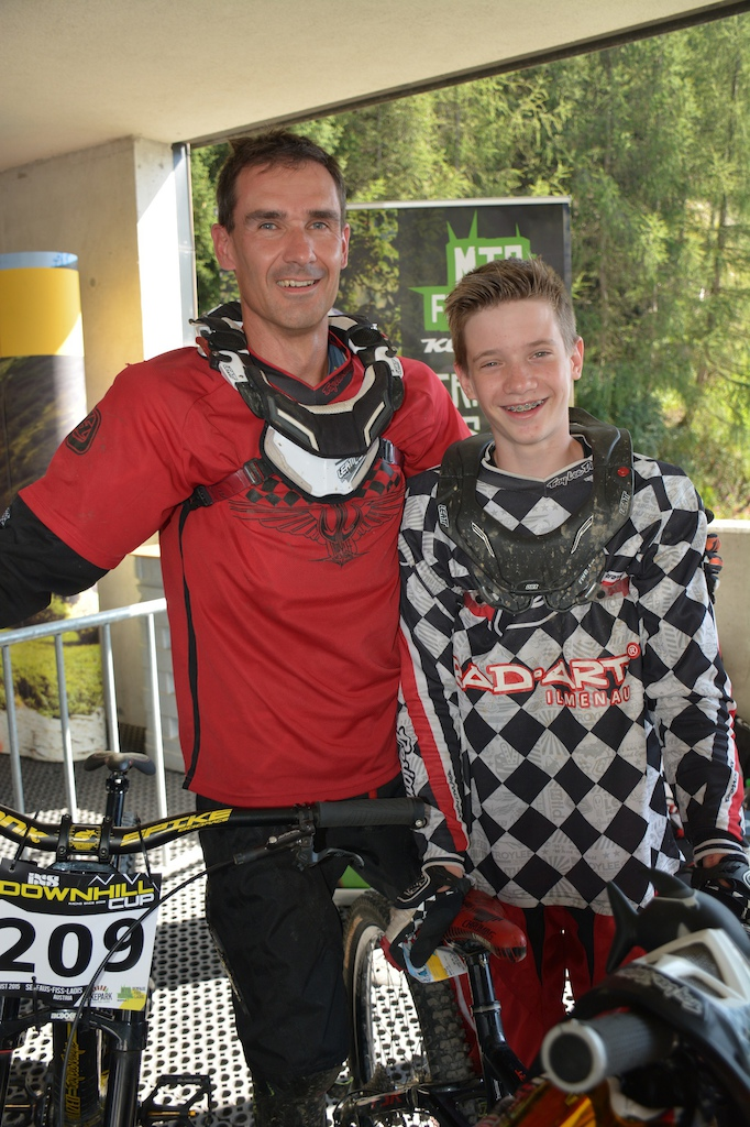 Andreas and Tom Exner GER competed in the Family Challenge at the MTB-Festival Serfaus-Fiss-Ladis.