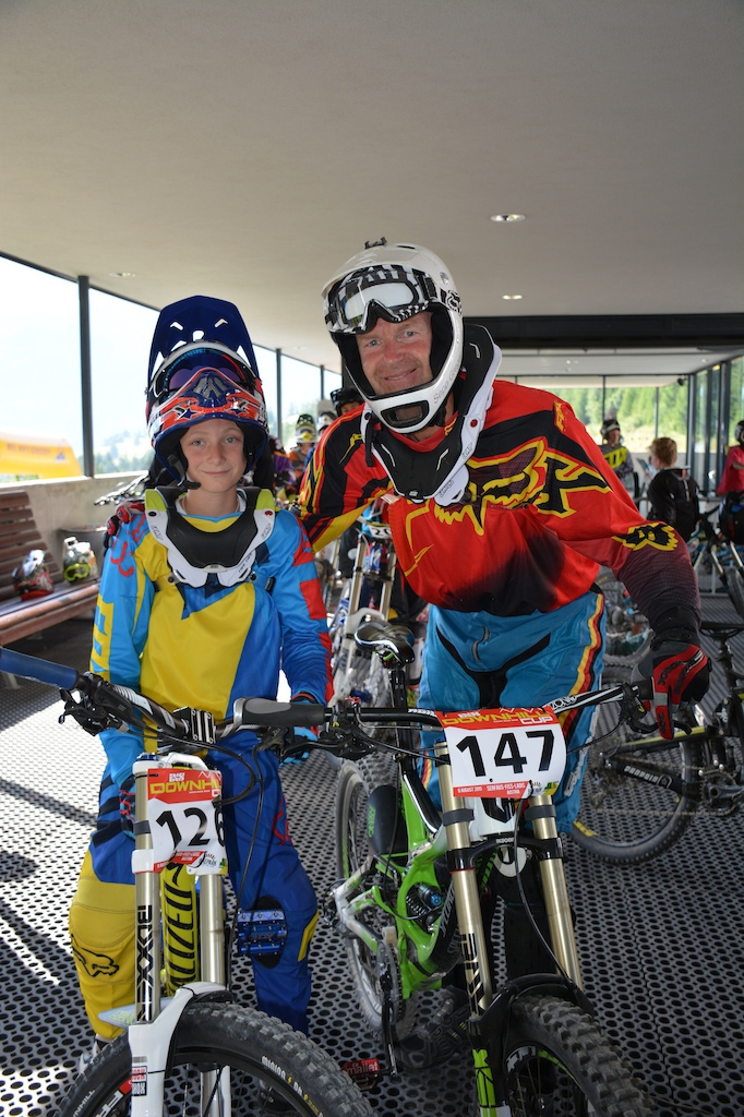 Maximilian Koci and Sepp Greger GER competed in the Family Challenge at the MTB-Festival Serfaus-Fiss-Ladis.