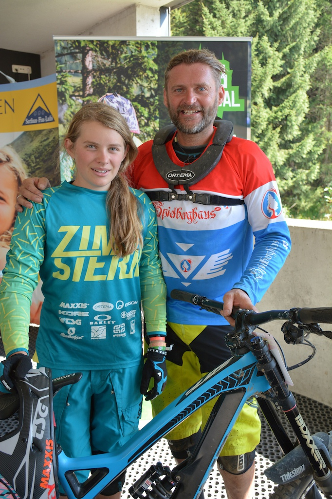 Valentina and Walter H ll AUT competed in the Family Challenge at the MTB-Festival Serfaus-Fiss-Ladis.