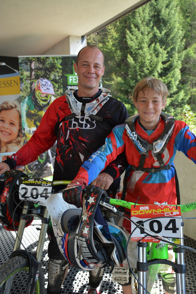 J rg und Leon Klipper GER competed in the Family Challenge at the MTB-Festival Serfaus-Fiss-Ladis.