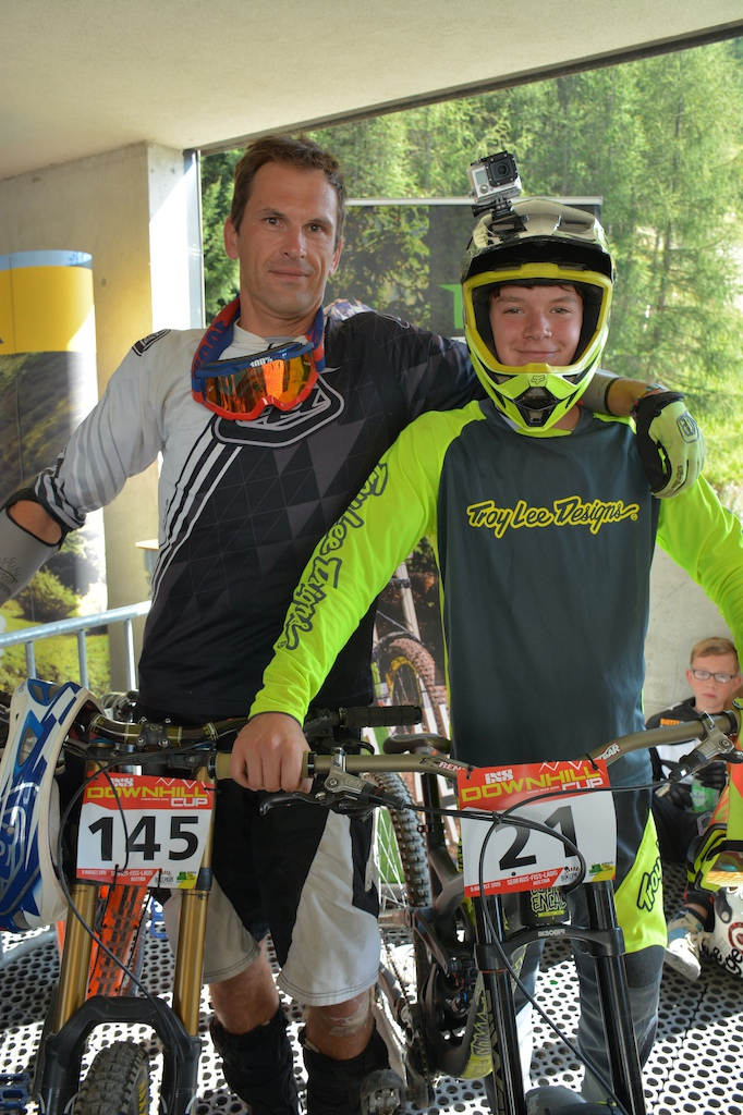 Francis and Wout Van Der Velden BEL competed in the Family Challenge at the MTB-Festival Serfaus-Fiss-Ladis.