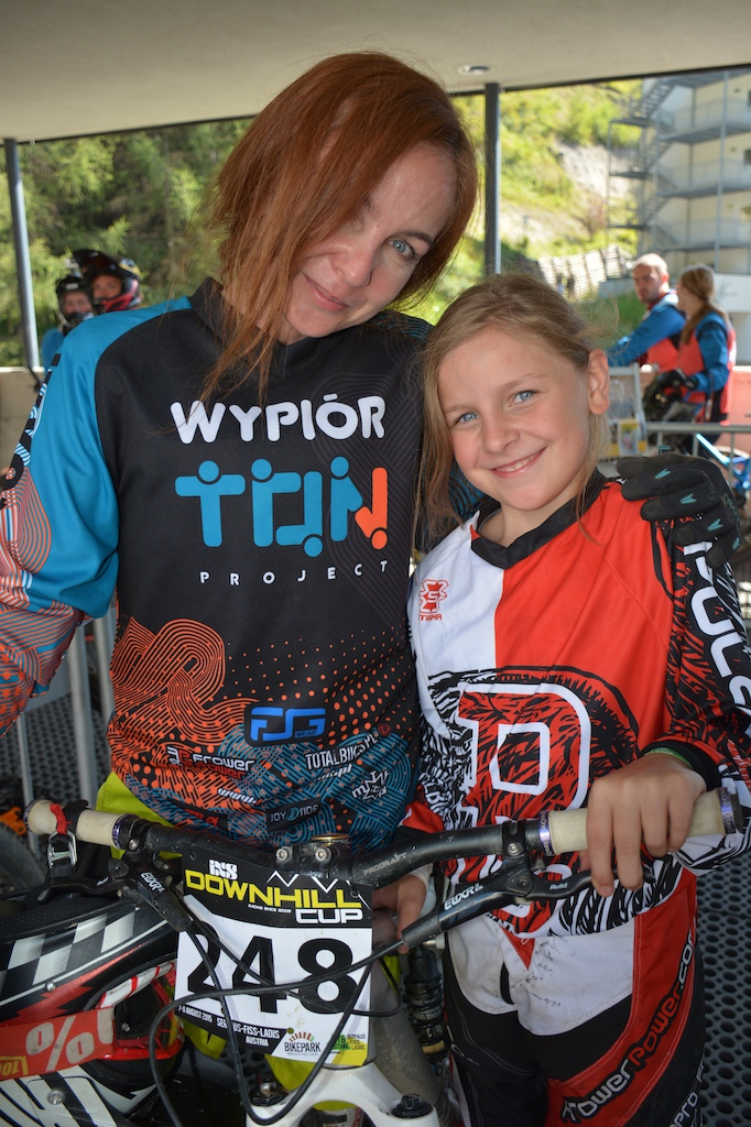 Joanna and Marta Wypi r POL competed in the Family Challenge at the MTB-Festival Serfaus-Fiss-Ladis.