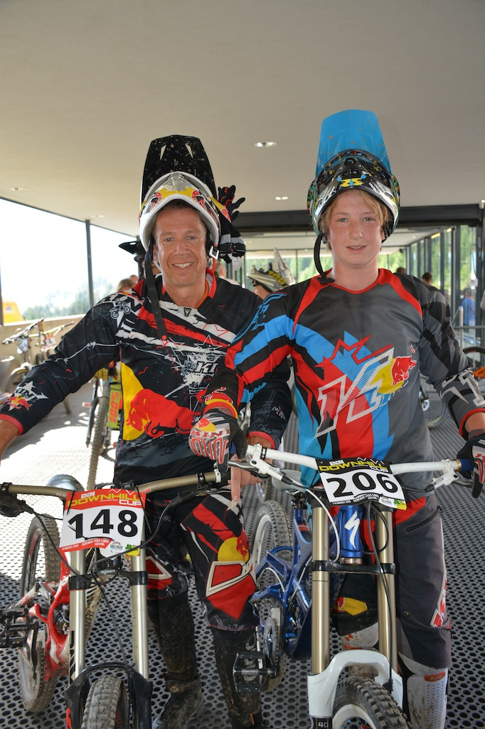 Josef and Nicolai Zinganel AUT competed in the Family Challenge at the MTB-Festival Serfaus-Fiss-Ladis.