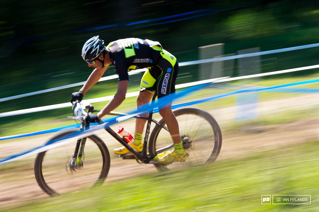 Victor Koretzky on his way to winning the U23 Mens XC.