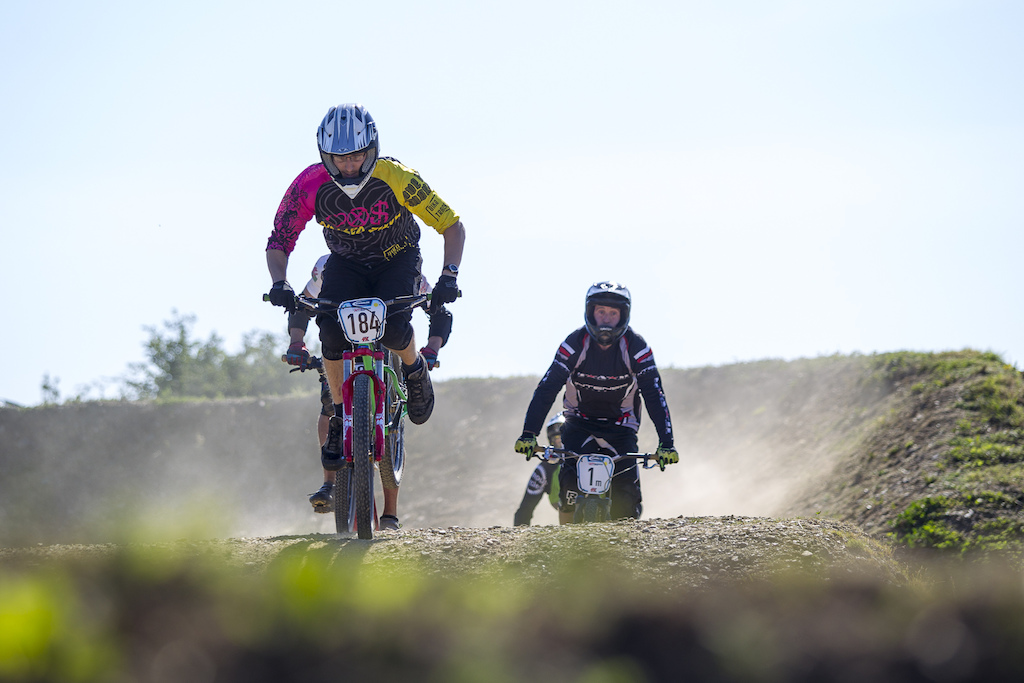 during round 4 of The Schwalbe British 4X Series at Pennines Farm, Falmouth, United Kingdom. 8August,2015 Photo: Charles Robertson