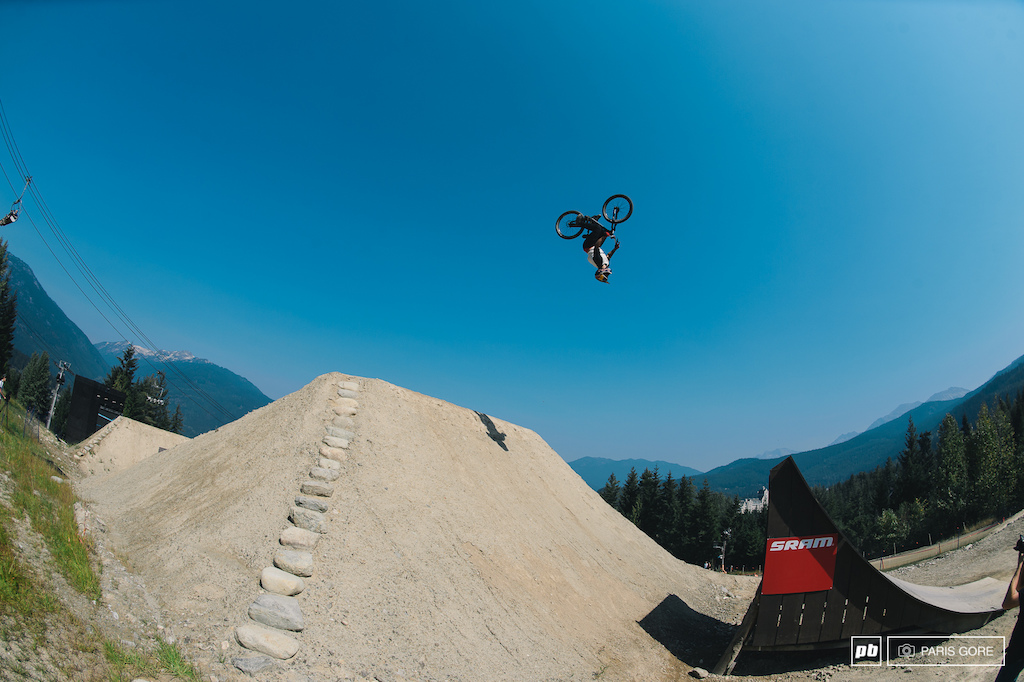 Yannick Granieri flipping out on how awesome the course is this year.