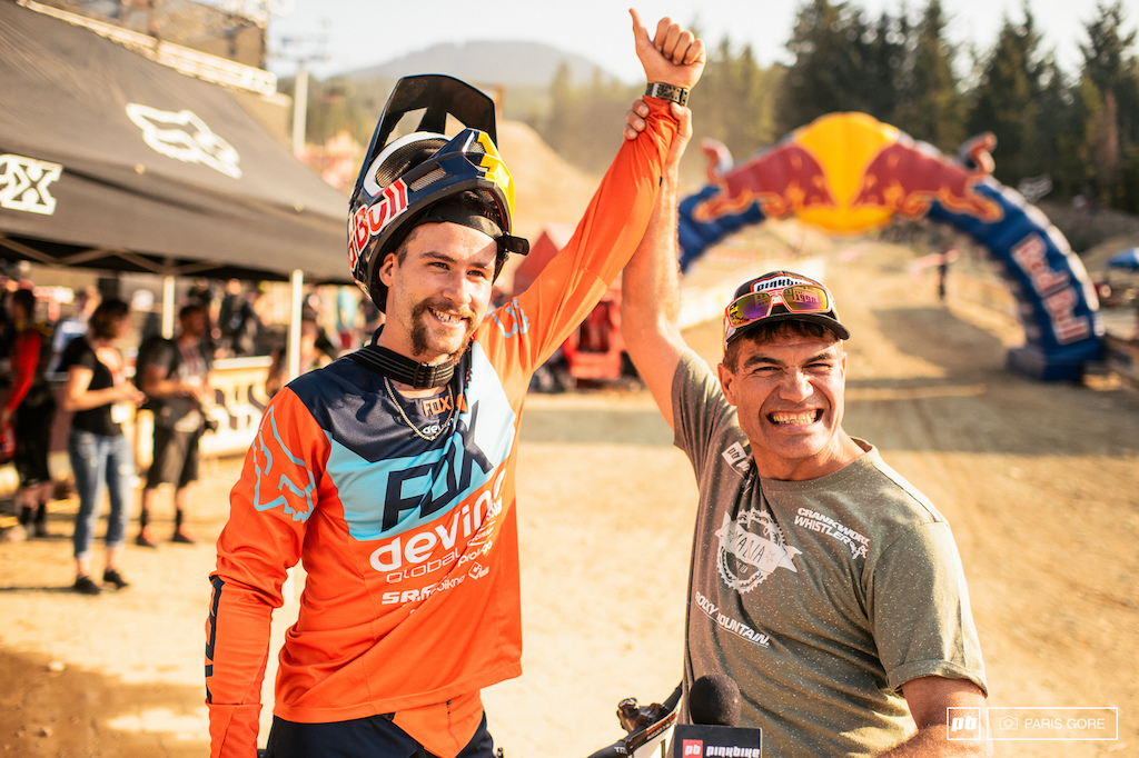 Brett Tippie congratulating Stevie Smith on his first big win in a long while good to see you back up there buddy