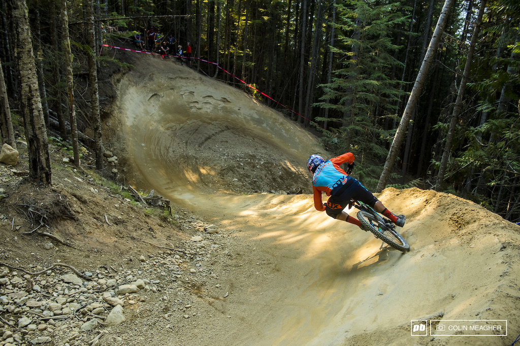 The Chainsaw Massacre himself dropping into the corkscrew of lower A-Line.