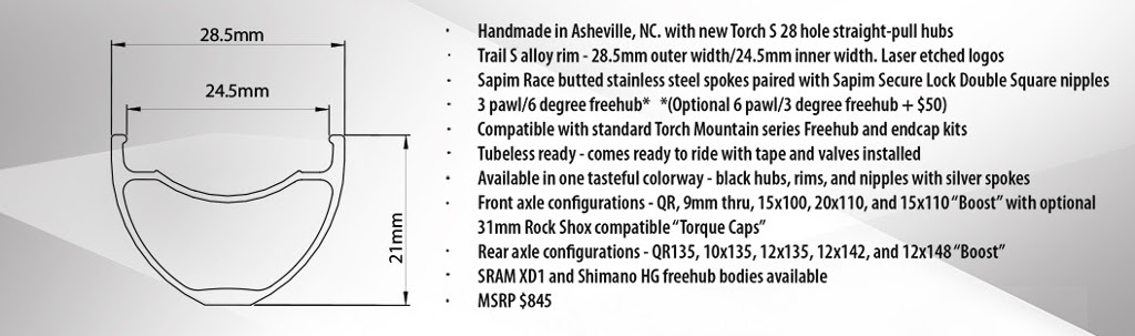 Industry Nine Trail S rim and specs 2015