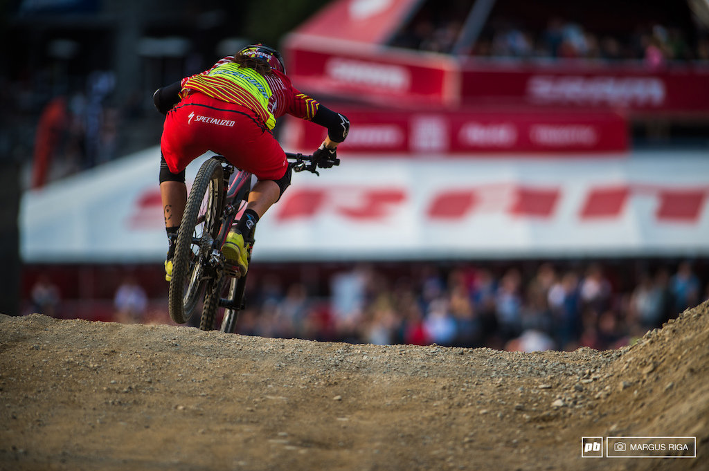 Anneke Beerton won the queen of Crankworx today with the overall points lead.