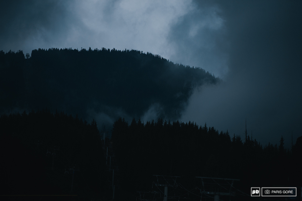 Storms a coming.. Here s to hoping the weather holds for tomorrow s slopestyle finals.